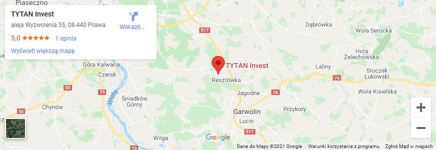 Lokalizacja biura Tytan Invest